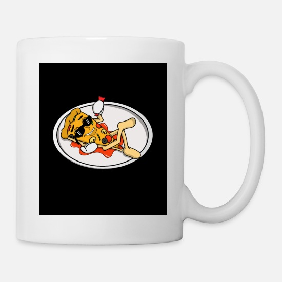 Italian Mugs & Drinkware - SAUCY PIZZA - Mug white