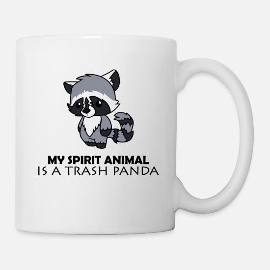 Thrash Mugs & Drinkware - Spirit Animal Trash Panda - Mug white