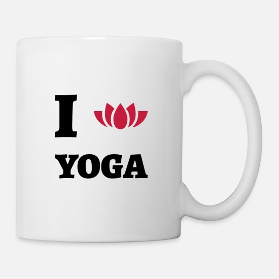 Yogi Mugs & Drinkware - I Love Yoga - Mug white