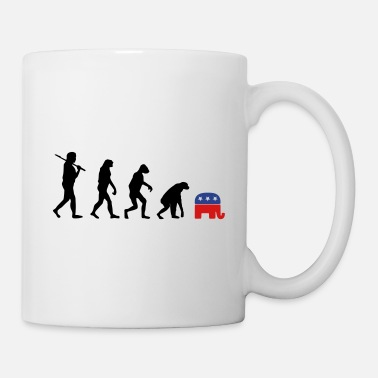 Election Campaign Evolution Backward Republicans election campaign - Mug