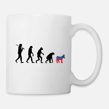 Election Campaign Evolution Backwards Democrats election campaign - Mug