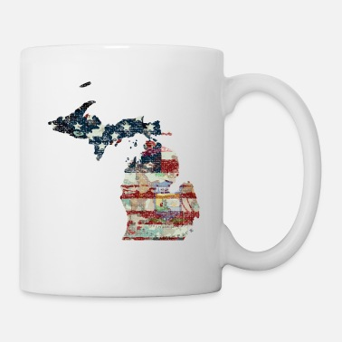 Upper Peninsula State And Country Michigan Patriot Flag State Tees - Coffee/Tea Mug