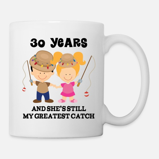 Anniversary Mugs & Drinkware - 30 Year Anniversary Matching Couples - Mug white