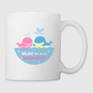 Valentine's Day Be My Valentine Whale Pun - Coffee/Tea Mug
