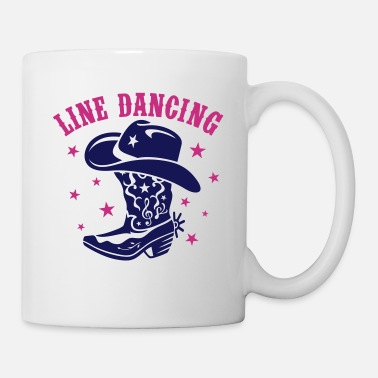 Cowboy Boots LINE DANCING HAT AND BOOT - Coffee/Tea Mug