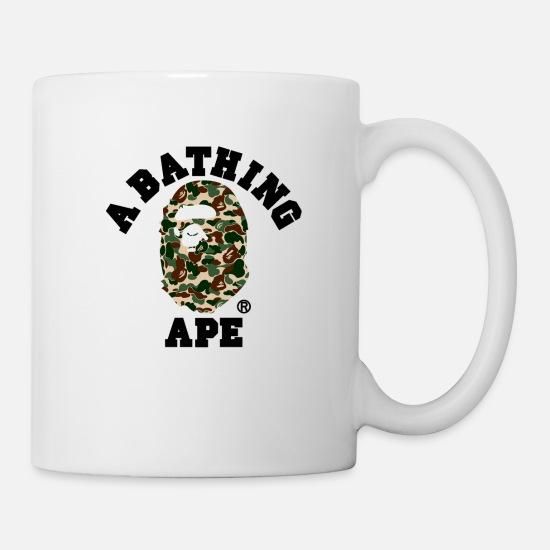 Ape Mugs & Drinkware - BAPE A BATHING APE - Mug white