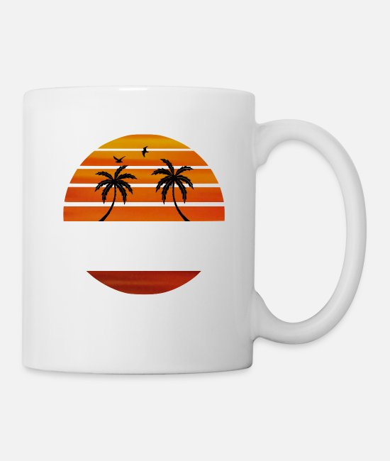 Beach Mugs & Cups - Malibu Beach California white - Mug white