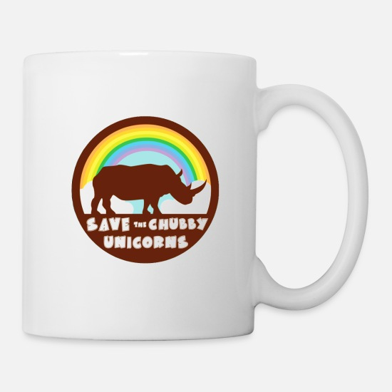 Chubby Mugs & Drinkware - Chubby Unicorns - Mug white