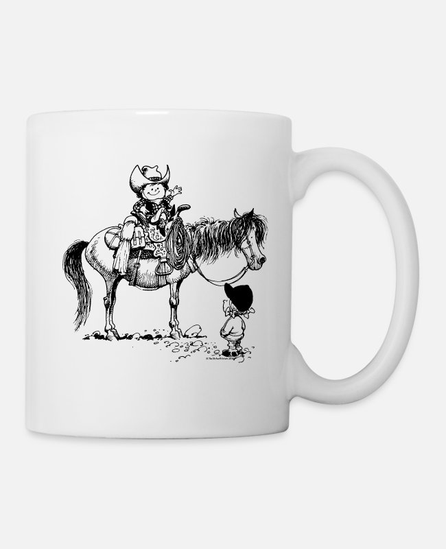 Riding Academy Mugs & Cups - Thelwell Cowboy With Riding Pupil - Mug white