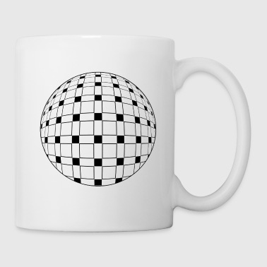 Sphere | Abstract Op Art | Black & White - Coffee/Tea Mug