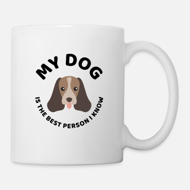 Dog Head The best person dog owner quote present - Mug