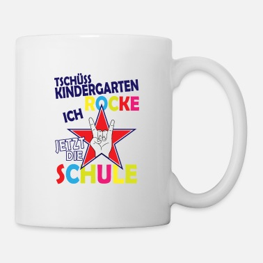 German Bye kindergarten i'm rocking the school now - Mug