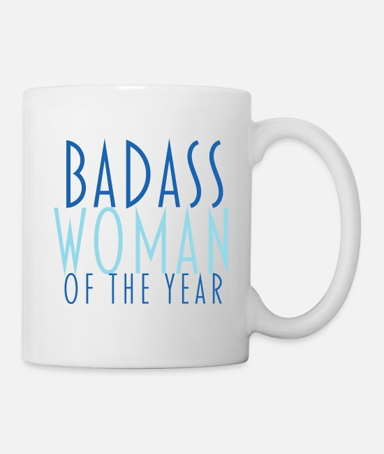 Housewives Mugs & Cups - Badass woman of the year - Mug white