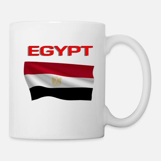 Flag Of Egypt Coffee/Tea Mug - white