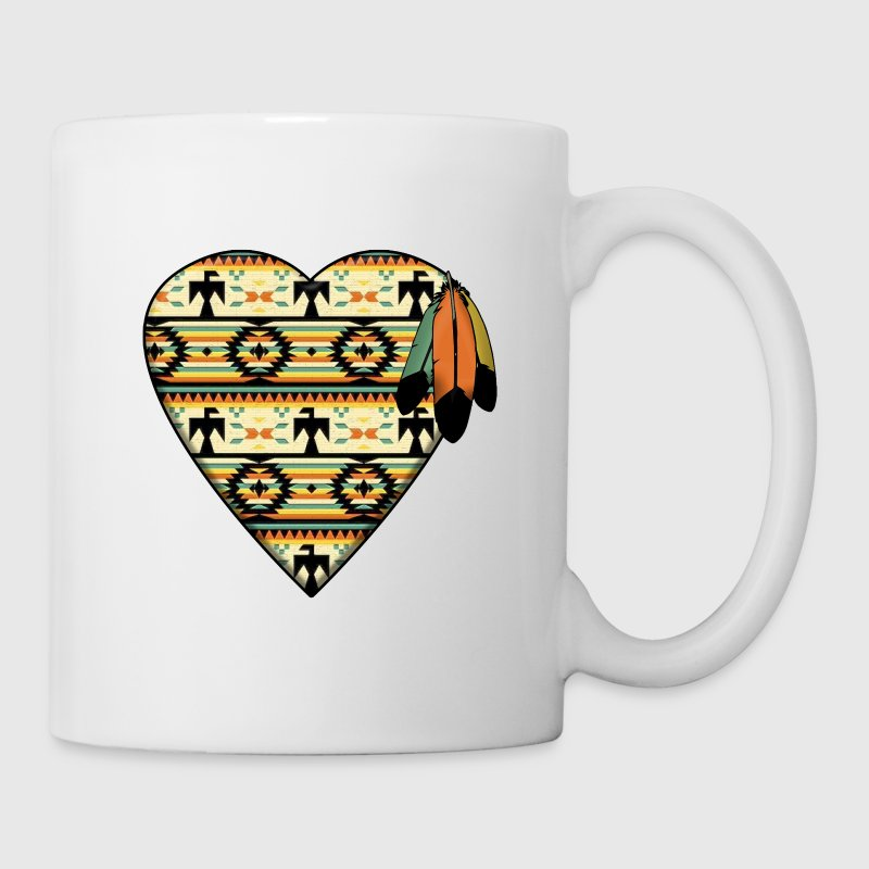 Native American Heart - Coffee/Tea Mug