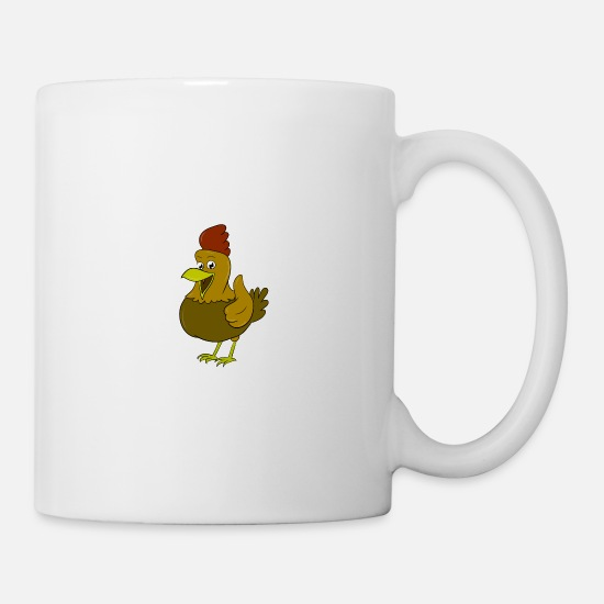 Chicken Mugs & Drinkware - Chicken, with a side of fries - Mug white