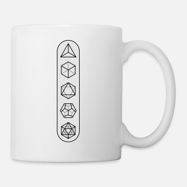 Platonic Solids platonic-white-bg - Mug