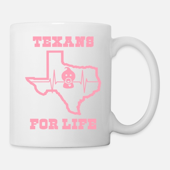 Pro-life Mugs & Drinkware - March for Life: Texans Pro Life Apparel - Mug white
