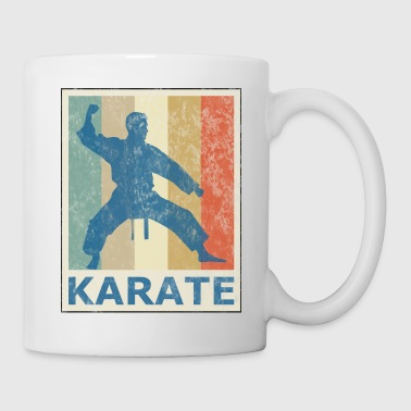 Retro Vintage Style Karate Fighter Martial Arts - Coffee/Tea Mug