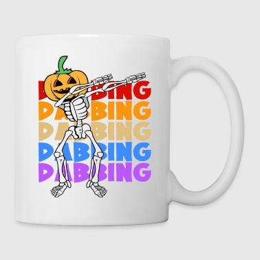 Retro Vintage Dabbing Dab Halloween Skeleton - Coffee/Tea Mug