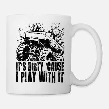 Pickup Truck Mega Mud Truck Dirty Play - Coffee/Tea Mug