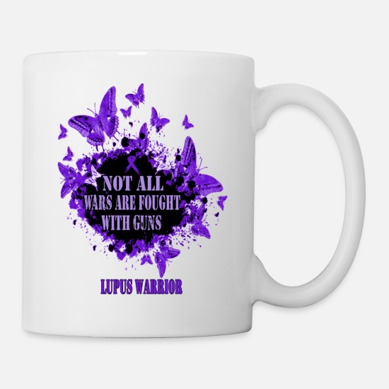 Awareness Mugs & Drinkware - Lupus Awareness T-shirt - Mug white