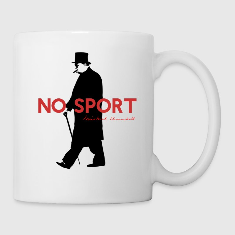 Winston Churchill, No Sport. Funny T-Shirt Design - Coffee/Tea Mug
