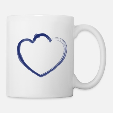 Strange mutant heart dark blue - Mug