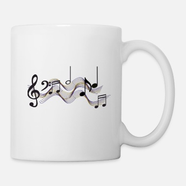 Music Is Life Musical Note - Mug