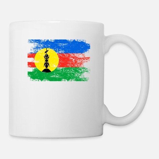 New Mugs & Drinkware - New Caledonia Shirt Gift Country Flag Patriotic Travel Oceania Light - Mug white
