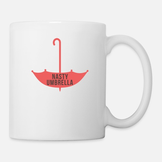 Umbrella Mugs & Drinkware - Trump Umbrella Such A Nasty Umbrella - Mug white