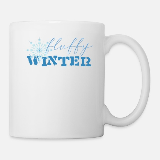 Snowfall Mugs & Drinkware - Fluffy Winter - Mug white