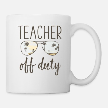 a5492c43fd3 Funny Teacher Gift - Off Duty Sunglasses Last Day Water Bottle - white