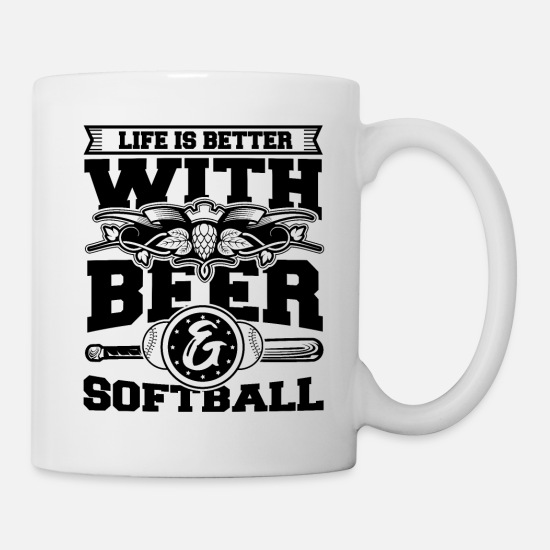 Son Mugs & Drinkware - Softball Player Coach Fan Funny Quotes - Mug white