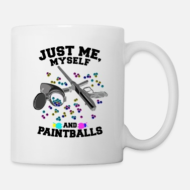 Fun Paintballer Gift Just Me Myself and My Paintballs - Mug