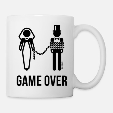 Matrimony Game Over On A Leash / Lead! (Groom / Stag Party) - Mug