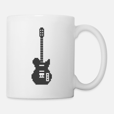 Rocknroll Pixel E Guitar Player Guitarist Gamer Gift - Mug