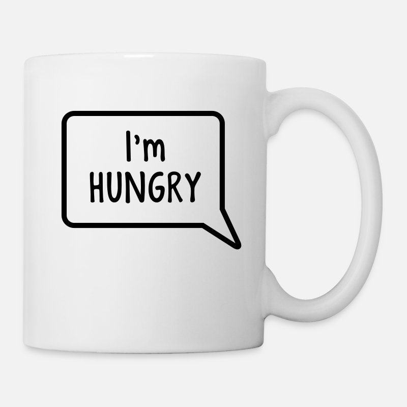 Food Mugs & Drinkware - I'm hungry tummy stomach design - Mug white