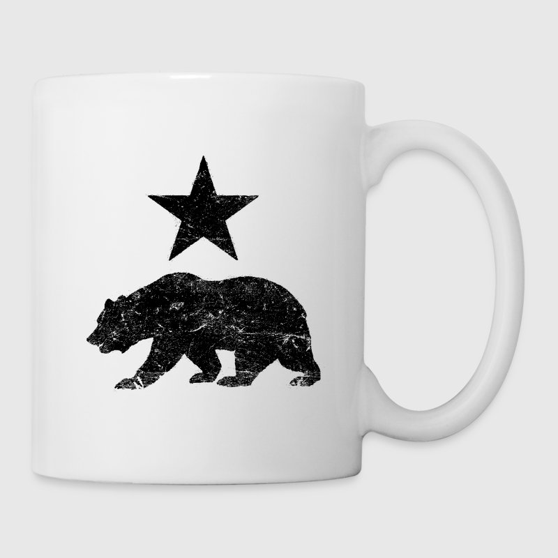 California Republic distressed Bear and Star - Coffee/Tea Mug