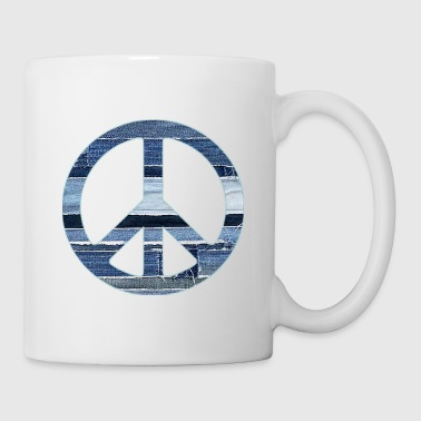 denim peace sign2 - Coffee/Tea Mug