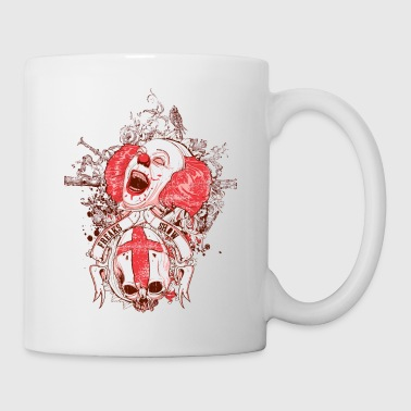 Scary freak show it scary clown and skull - Coffee/Tea Mug