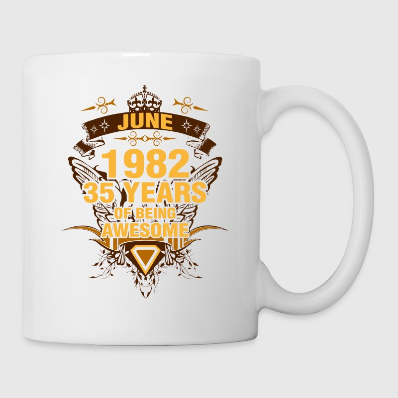June 1982 35 Years of Being Awesome - Coffee/Tea Mug