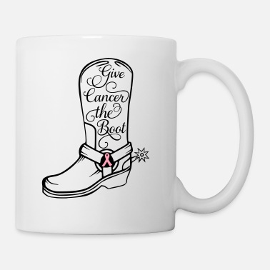Cowboy Boots Cowboy boot - Give cancer the boot - Coffee/Tea Mug