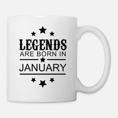 Born Legends Are Born In January - Mug