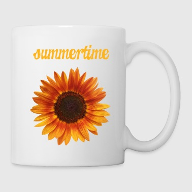 summertime - beautiful sunflower blossom - Coffee/Tea Mug