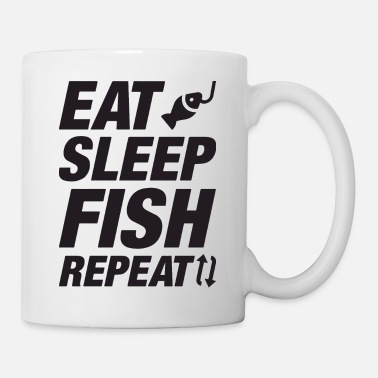 Eat Sleep Fish Repeat eat sleep fish repeat - Mug