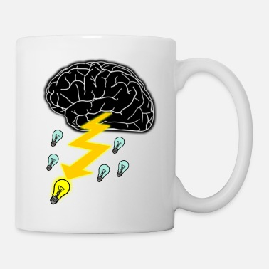 Rain Cloud Brainstorming icon / symbol / sign - Mug