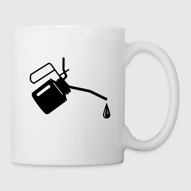 An oil can and oil drop  - Coffee/Tea Mug