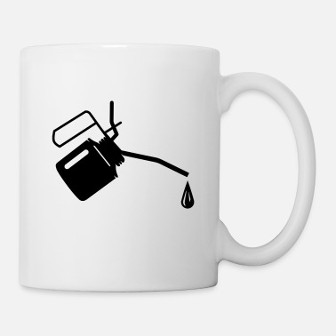 Oil An oil can and oil drop  - Mug