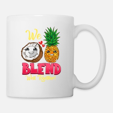 Hilarious We Blend Well Together Funny Pineapple Coconut Pun - Mug
